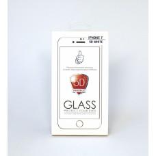 Стекло защитное I-phone 7 (5D, white/black)