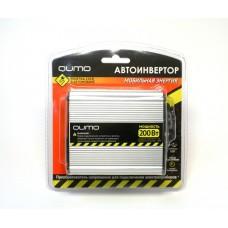 """Автоинвертор """"Qumo"""" 12>220V/200W в прикуриватель, USB выход"""