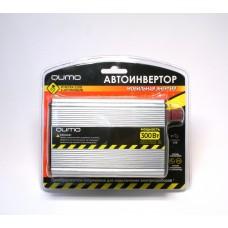 """Автоинвертор """"Qumo"""" 12>220V/300W в прикуриватель и к аккумулятору, USB выход"""