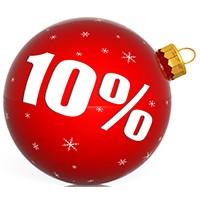 Новогодние скидки 10%  всем покупателям магазина до 15 января!