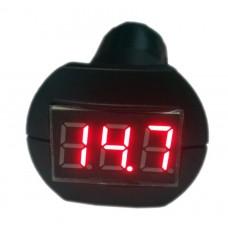 Индикатор напряжения 12/24 В в гнездо прикуривателя красный