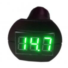 Индикатор напряжения 12/24 В в гнездо прикуривателя зеленый