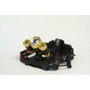 Фонарь налобный HL-006 (золотой с фокусировкой)