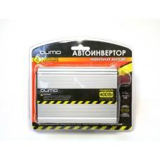 """Автоинвертор """"Qumo"""" 12>220V/400W в прикуриватель и к аккумулятору, USB выход"""