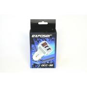 Зарядное устройство в прикуриватель Exposer DCC-36 (с вольтметром)