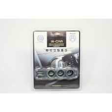 Разветвитель прикуривателя, USB выход, WF-0120 (провод)